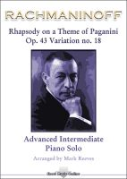 Rachmaninoff - Rhapsody on a Theme of Paganini Op 43 Variation No 18