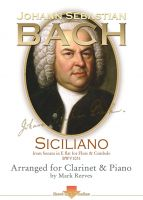 Siciliano by J S Bach arranged for Clarinet and Piano